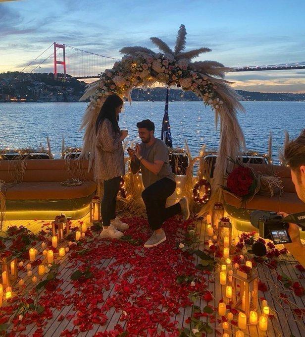 Ozan Tufan sevgilisine evlenme teklifi etti